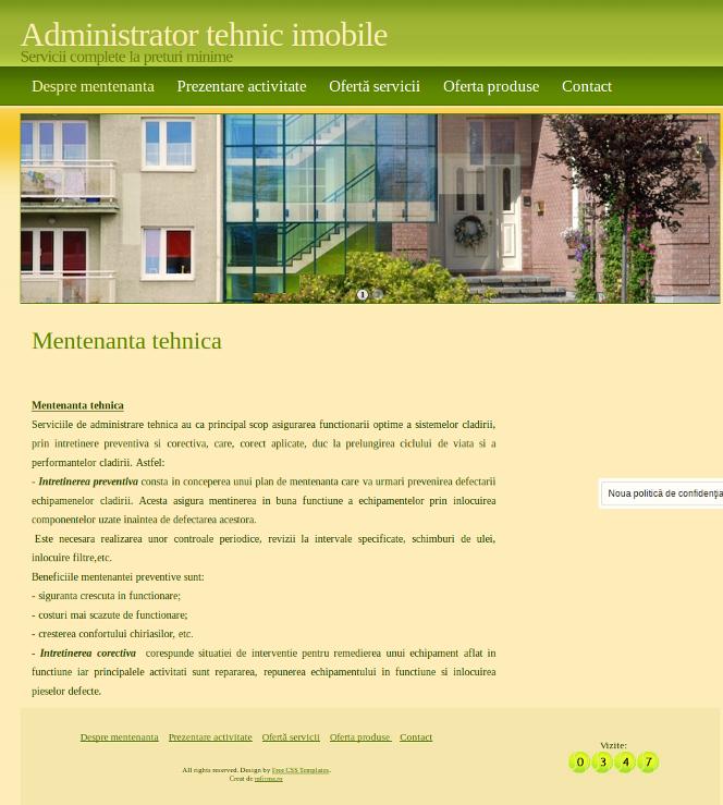 Pagina www pentru administrator tehnic imobile!